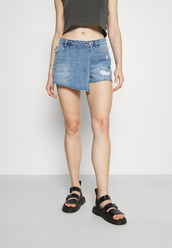 ONLTEXAS LIFE - Denim skirt - light blue denim