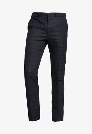 SLHSLIM MATHNOHR TROUSER - Trousers - dark blue melange