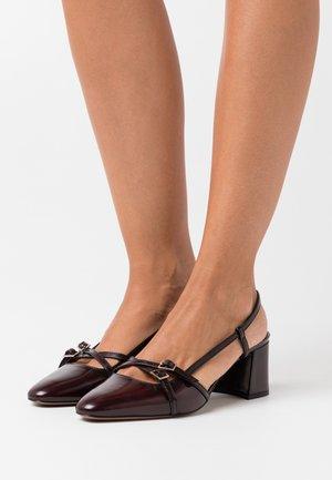 SLING BACK - Decolleté - bordeaux