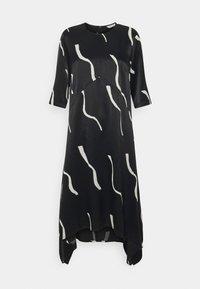 Marimekko - VUOSI LAUHA DRESS - Denní šaty - black/light beige - 5