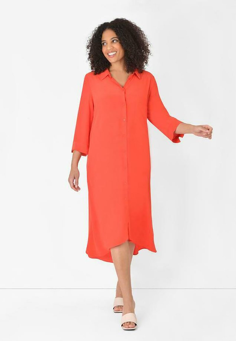 Live Unlimited London - BURNT  - Shirt dress - orange