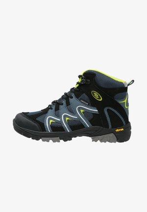 VISION  - Lace-up ankle boots - petrol/schwarz/lemon