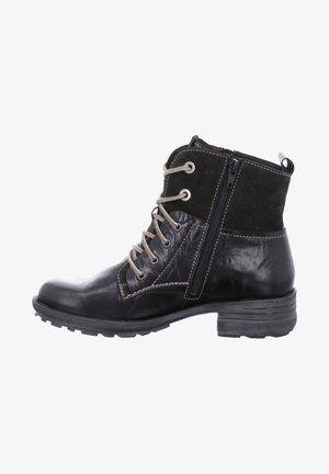 SANDRA - Lace-up ankle boots - schwarz