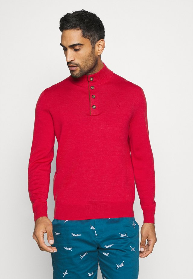 LONG SLEEVE - Trui - sunrise red heather