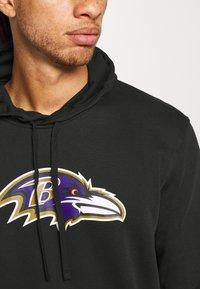New Era - NFL BALTIMORE RAVENS HOODIE - Club wear - black - 5