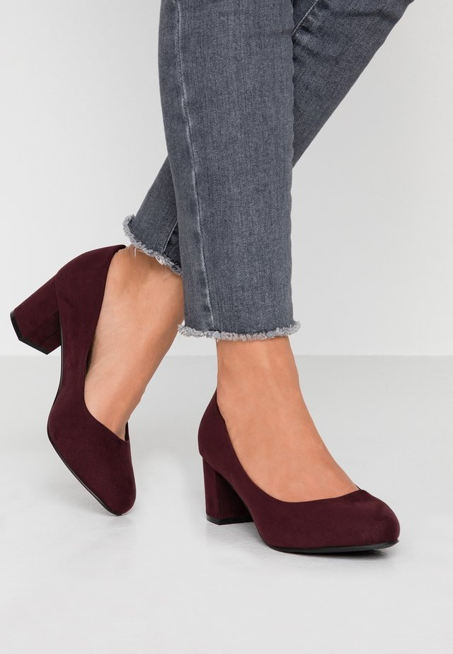 WIDE FIT BIABLANCHE BLOK HEEL - Pumps - burgundy