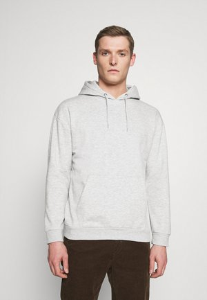 Sweat à capuche - mottled light grey