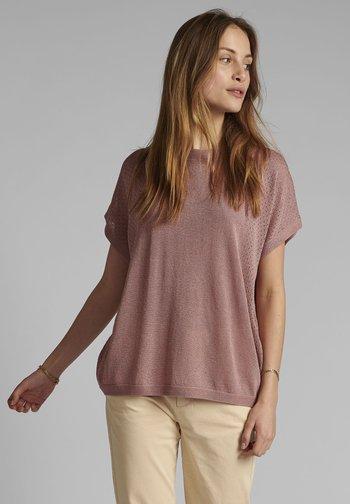 Basic T-shirt - ash rose