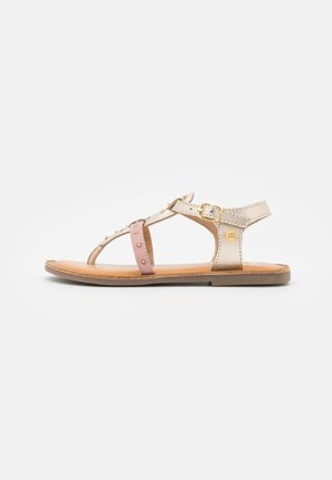 VIRE - T-bar sandals - oro