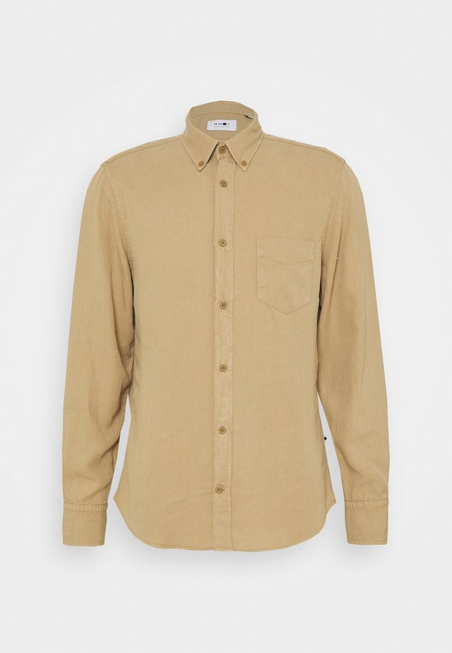 MANZA SLIM FIT - Camicia - beige
