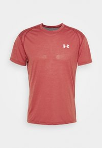 Under Armour - STREAKER SHORTSLEEVE - Camiseta estampada - cinna red - 4