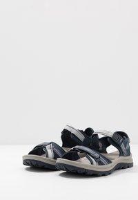 Keen - TERRADORA II OPEN TOE - Walking sandals - navy/light blue - 2