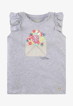 VERSPIELTES MIT ARTWORK - T-shirt print - evergray melange gray