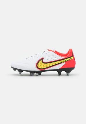 TIEMPO LEGEND 9 ACADEMY SG-PRO AC - Screw-in stud football boots - weiß/gelb/rot