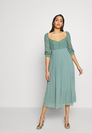 MIDAXI TRIMS PLEATED - Day dress - nile blue