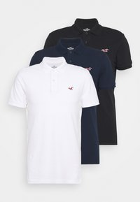 Hollister Co. - 3 PACK - Polo shirt - white/navy/black - 6