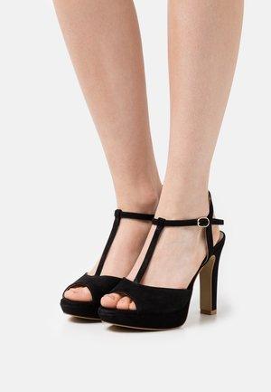 FLANY - Platform sandals - noir