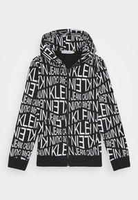 Calvin Klein Jeans - DISTORTED LOGO ZIP HOODIE - Zip-up hoodie - black - 1