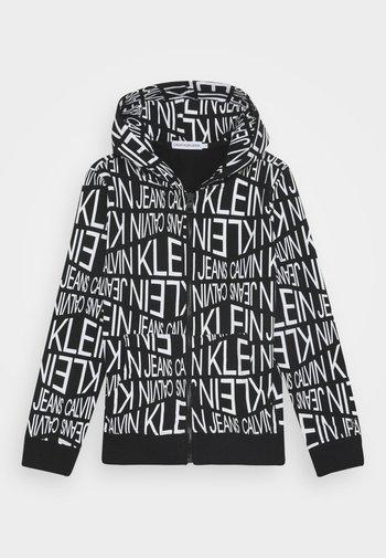 DISTORTED LOGO ZIP HOODIE - Zip-up sweatshirt - black