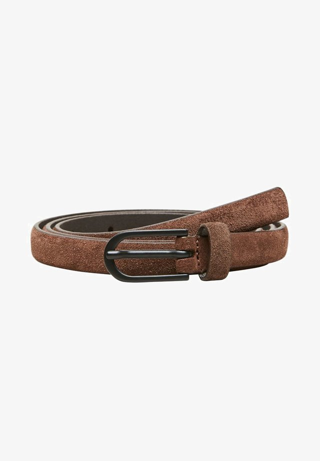WILDLEDER - Waist belt - coffee bean