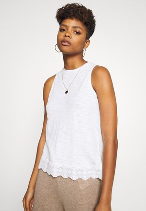 MIX VEST - Top - chalk white