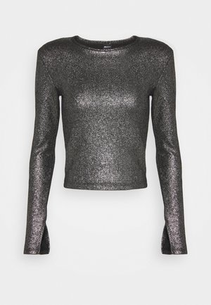 JONNA - Long sleeved top - black/silver