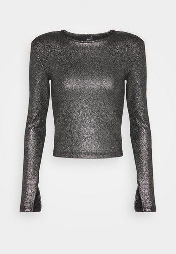 JONNA - Topper langermet - black/silver