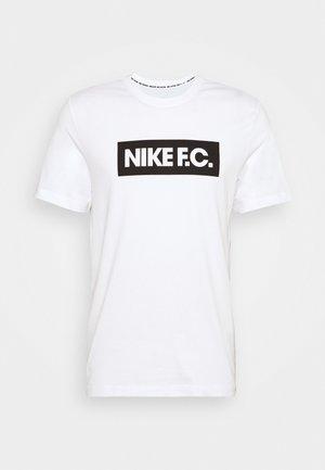 FC TEE ESSENTIALS - Print T-shirt - white/black