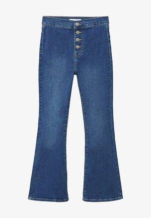 JEGGINGT - Flared Jeans - middenblauw