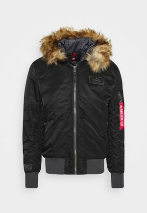 HOODED - Light jacket - black