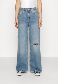 BDG Urban Outfitters - RIPPED KNEE PUDDLE - Jeans relaxed fit - dark vintage - 0