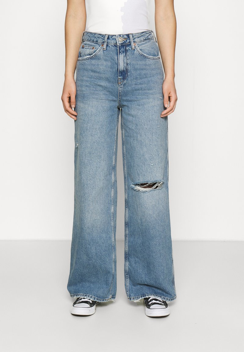 BDG Urban Outfitters - RIPPED KNEE PUDDLE - Jeans relaxed fit - dark vintage