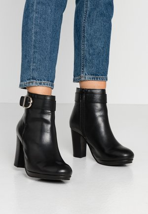 BROOKER - High heeled ankle boots - black