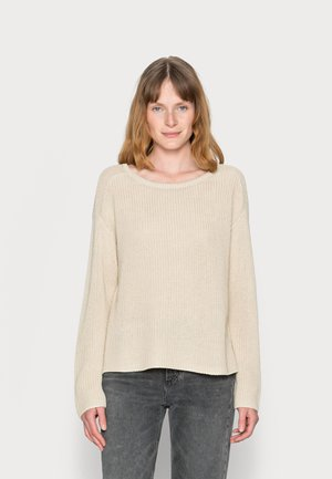 LONG SLEEVE ROUND NECK - Jumper - summer taupe