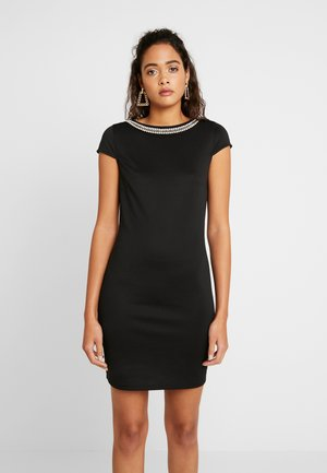 VISABINE CAPSLEEVE PEARL DRESS - Denní šaty - black