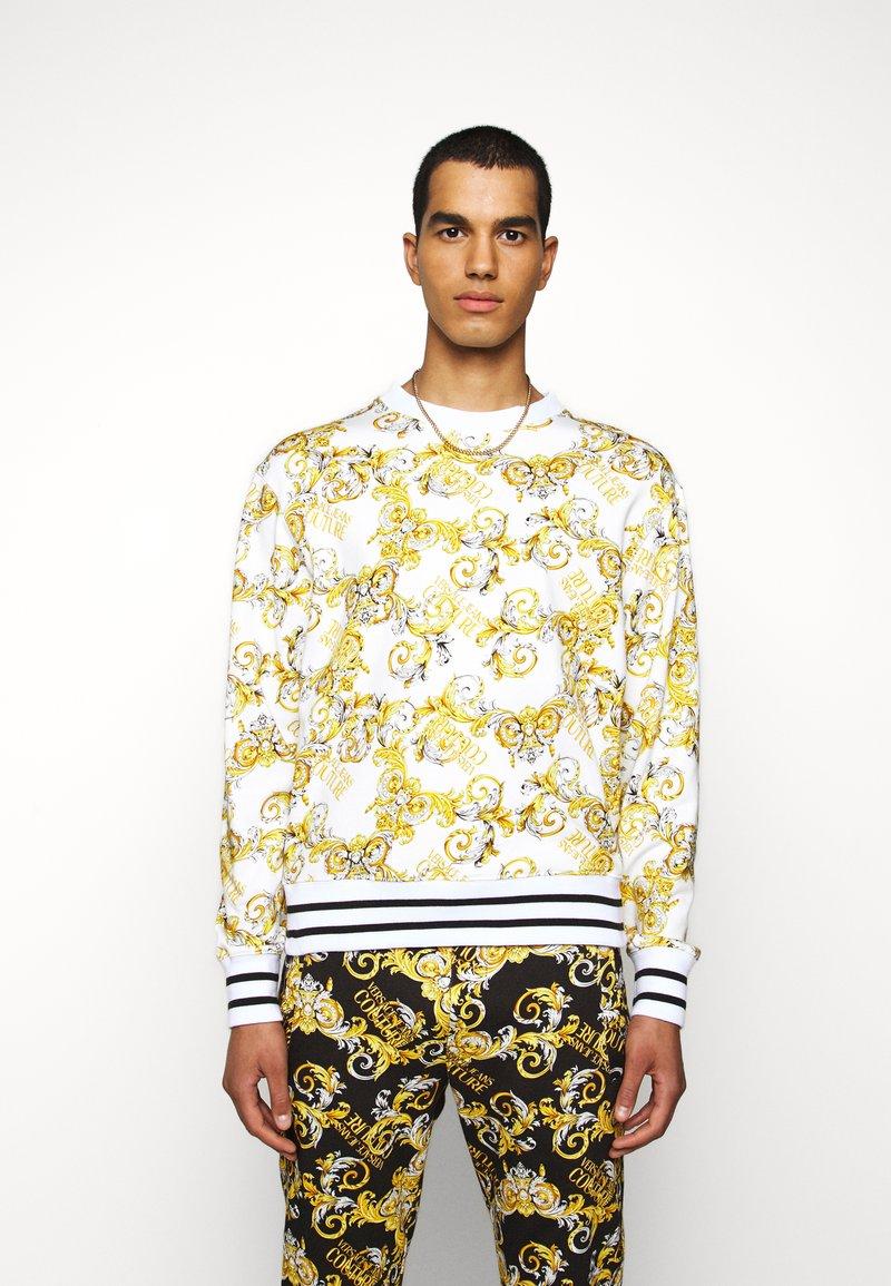 Versace Jeans Couture - PRINT NEW LOGO - Sweatshirt - bianco ottico
