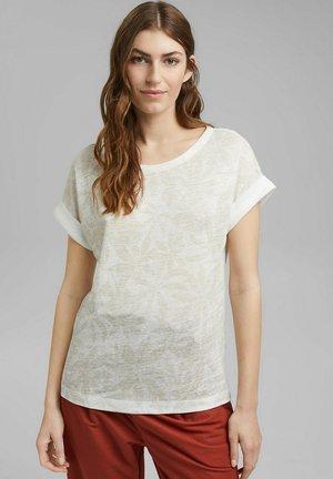 LEAF - Print T-shirt - off white