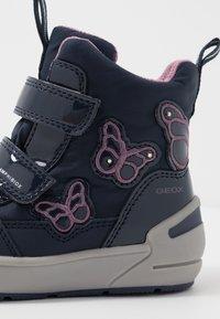 Geox - SLEIGH GIRL ABX - Winter boots - navy/dark lilac - 5