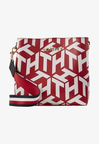 Tommy Hilfiger - ICONIC CROSSOVER MONO - Across body bag - red - 1