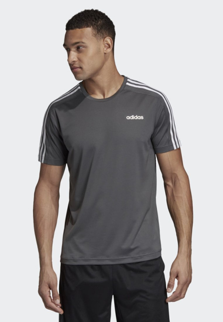adidas Performance - DESIGN 2 MOVE 3-STRIPES T-SHIRT - T-Shirt print - grey