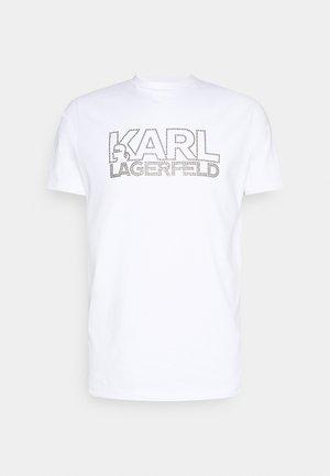 CREWNECK - Print T-shirt - white/silver