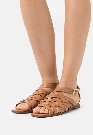 SYLVIE - Sandaalit nilkkaremmillä - tan