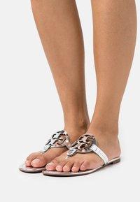 Tory Burch - MILLER - T-bar sandals - silver - 0