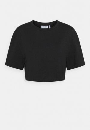 CROP VOLUME  - Basic T-shirt - black