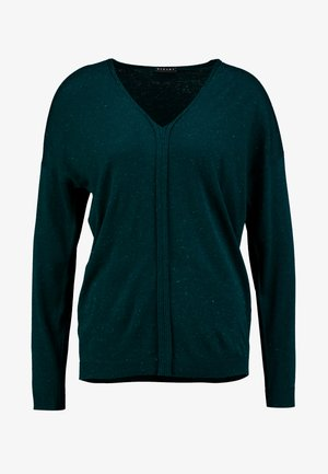 V NECK - Strikkegenser - dark green