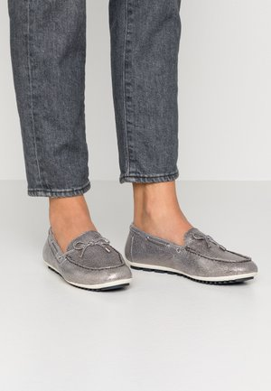 WOMS SLIP-ON - Boat shoes - pewter
