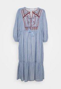 Cream - FLORANA DRESS - Vapaa-ajan mekko - blue - 0