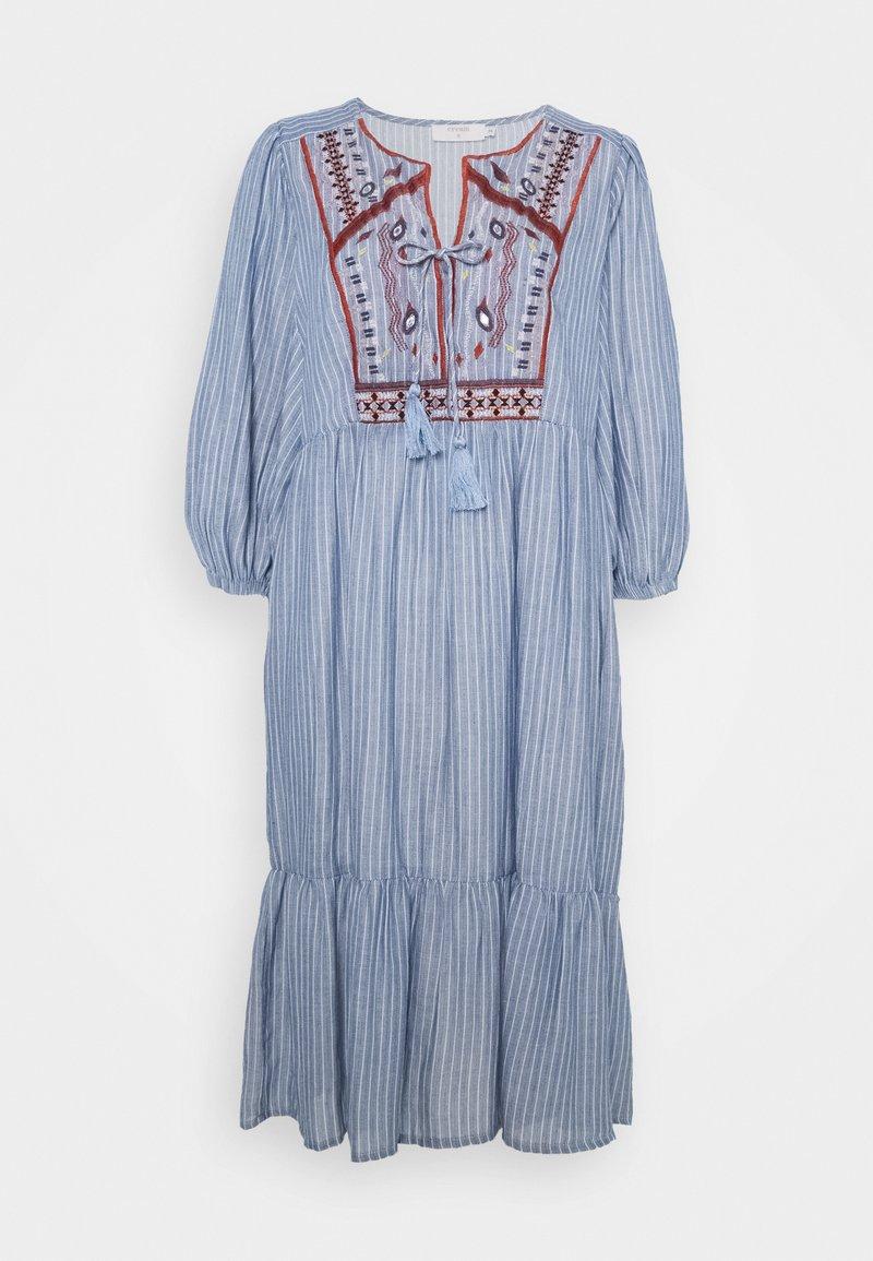 Cream - FLORANA DRESS - Vapaa-ajan mekko - blue