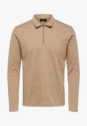 LONG SLEEVED - Poloshirt - brown