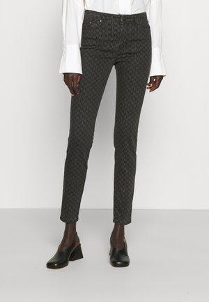 MONOGRAM PANTS - Jeans Skinny Fit - dark grey denim